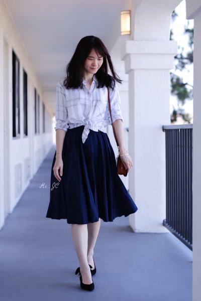[日常穿搭] Ganni蝴蝶結鞋+Rails襯衫+Chloe Nile包+Monica Vinader手鍊